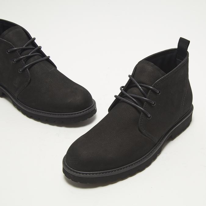 Desert boots en nubuck à semelle effet track bata, Noir, 896-6277 - 16