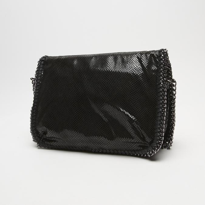Sac à bandoulière en tissu bata, Noir, 969-6112 - 26