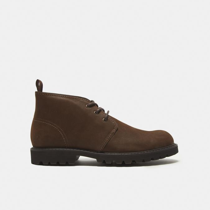 Desert boots en nubuck à semelle effet track bata, Brun, 896-3277 - 13