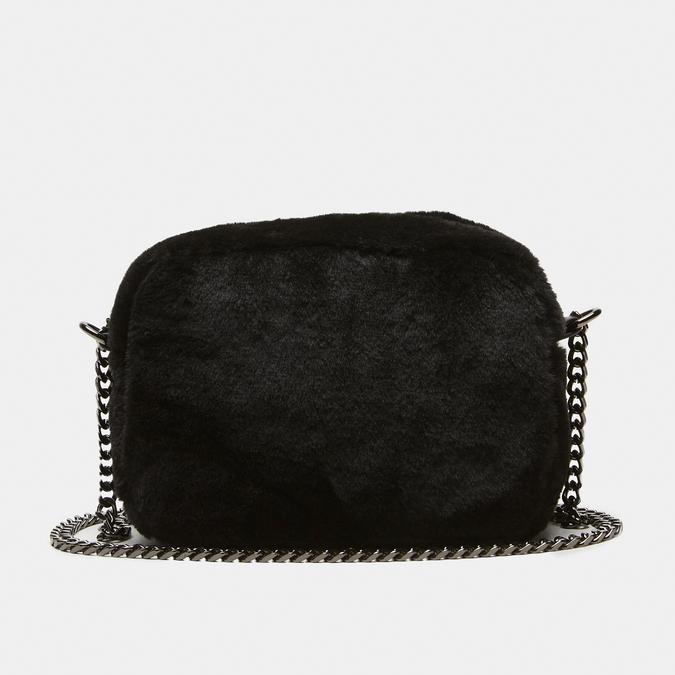 sac à bandoulière avec fourrure bata, Noir, 969-6193 - 13
