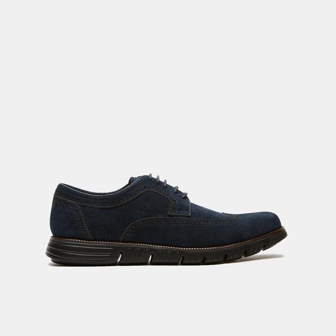 chaussures basses brogue en suède bata, Bleu, 823-9199 - 13