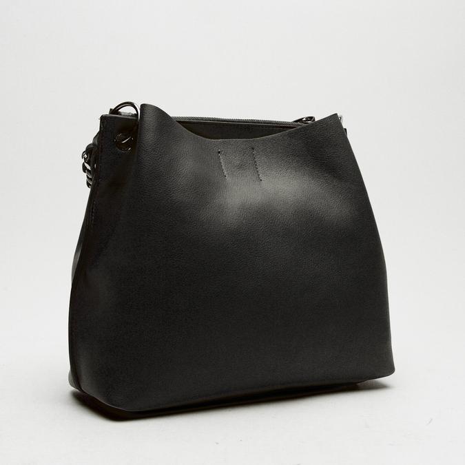 sac à main hobo pour femme à anse chaînette bata, Noir, 961-6203 - 15