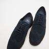 chaussures basses brogue en suède bata, Bleu, 823-9199 - 16