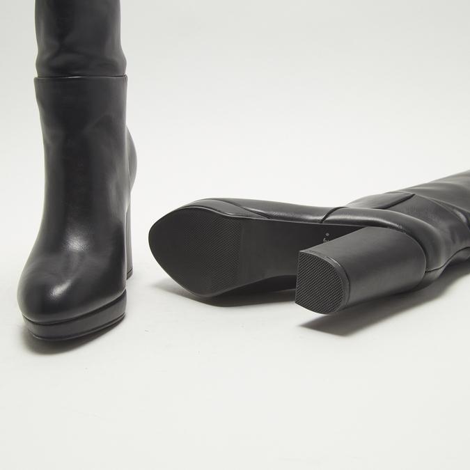 bottes en-dessous du genou à talons larges bata, Noir, 791-6257 - 19