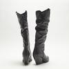 bottes de cow-boy en-dessous du genou à talons cubains bata, Noir, 794-6520 - 17