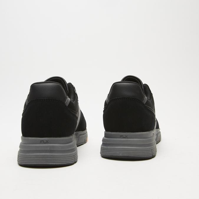 baskets en suède Flexible homme flexible, Noir, 843-6411 - 19