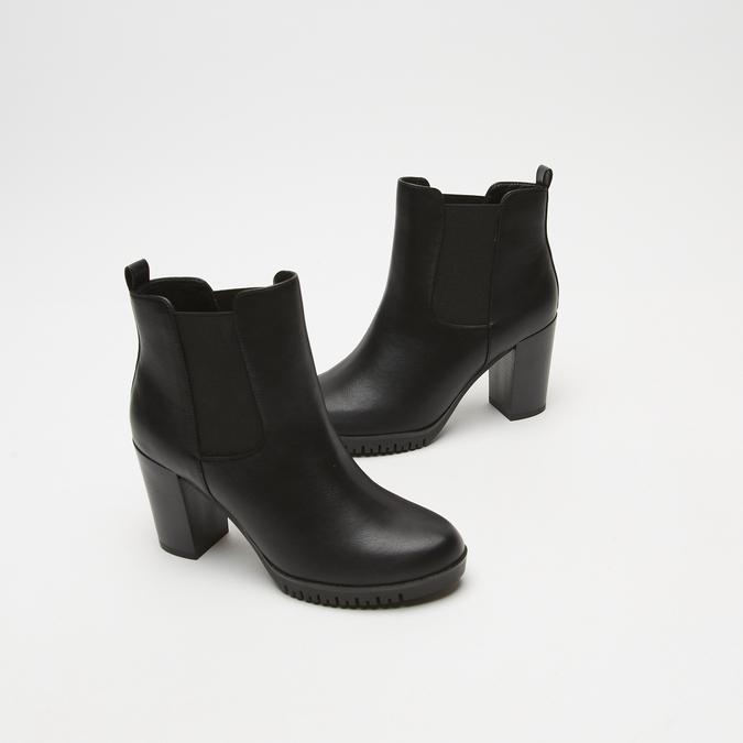 bottines à talons larges bata, Noir, 791-6130 - 16
